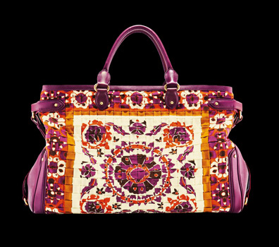 The Double Top Handle Bag Is A Luxe Addition To Any Spring Summer Handbag Wardrobe Collection And Printed Leather Tote Brilliant Work Of Art