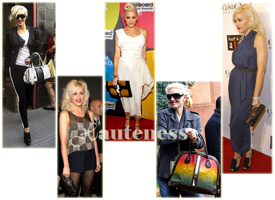 The Many L A M B Bags Of Gwen Stefani Celebrity Handbags Via Hauteness Handbag Magazine